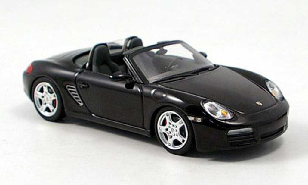 porsche boxster s schwarz 2005 minichamps modellauto 1 43 kaufen verkauf modellauto online. Black Bedroom Furniture Sets. Home Design Ideas