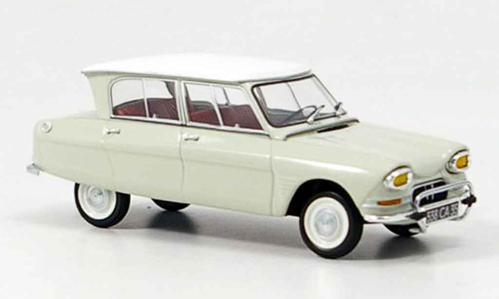 citroen ami 6 miniature blanche 1964 minichamps 1 43 voiture. Black Bedroom Furniture Sets. Home Design Ideas