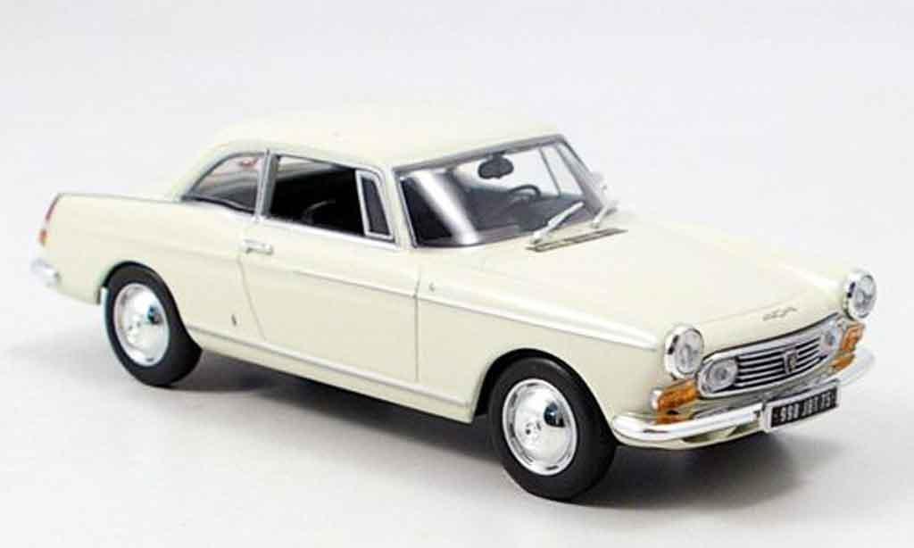 Peugeot 404 coupe 1/43 Minichamps creme 1962 miniature