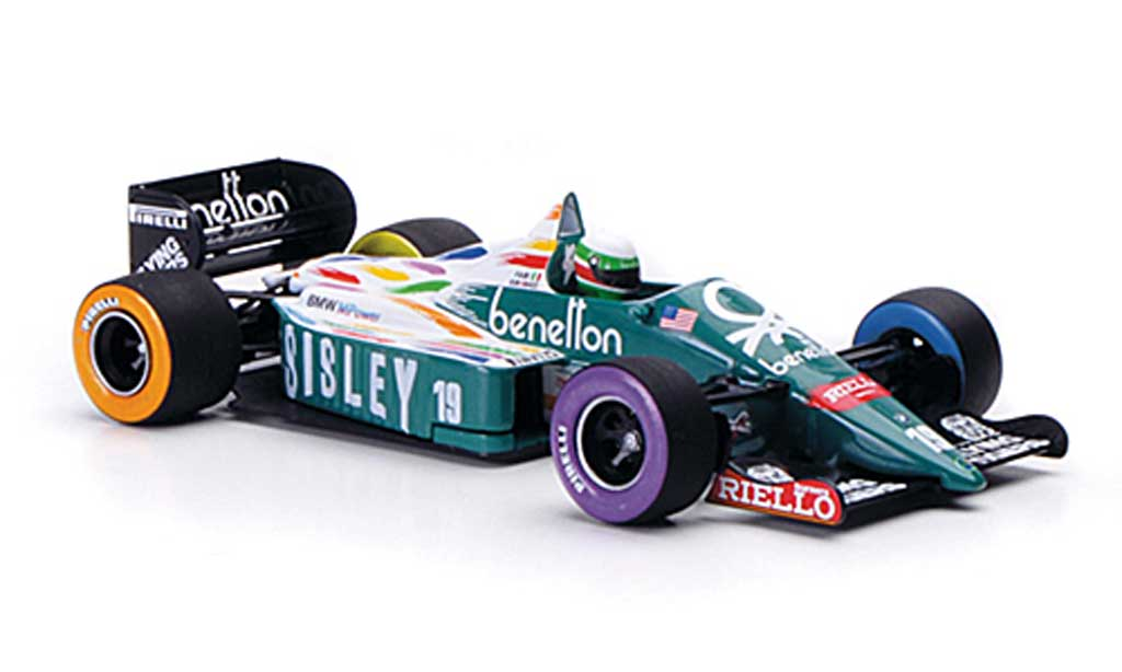 Benetton Bmw 1986 1/43 Minichamps 1986 B 186 No.19 Sisley T.Fabi GP USA Detroit 1986 miniature