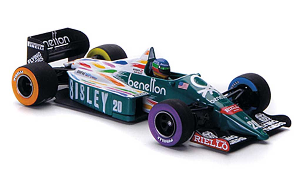 Benetton Bmw 1986 1/43 Minichamps 1986 B 186 No.20 Sisley G.Berger GP USA Detroit 1986 miniature