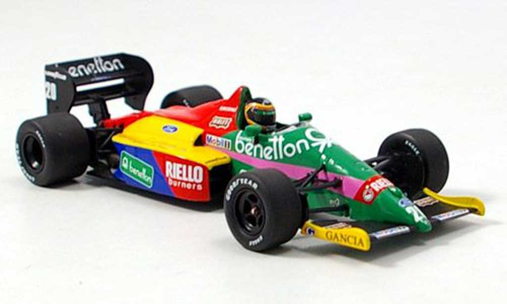 Ford F1 1987 Benetton B 187 Boutsen Minichamps diecast model car 1/43