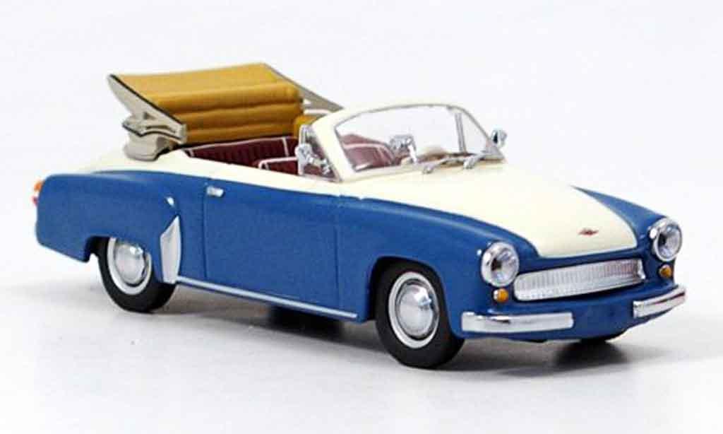 Wartburg 312 1/43 Minichamps A Cabrio bleu blanche 1958 miniature