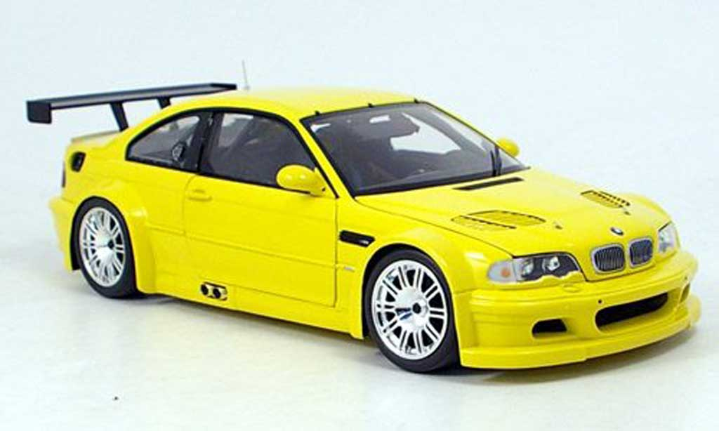Bmw M3 E46 1/18 Minichamps GTR street yellow 2001 diecast model cars