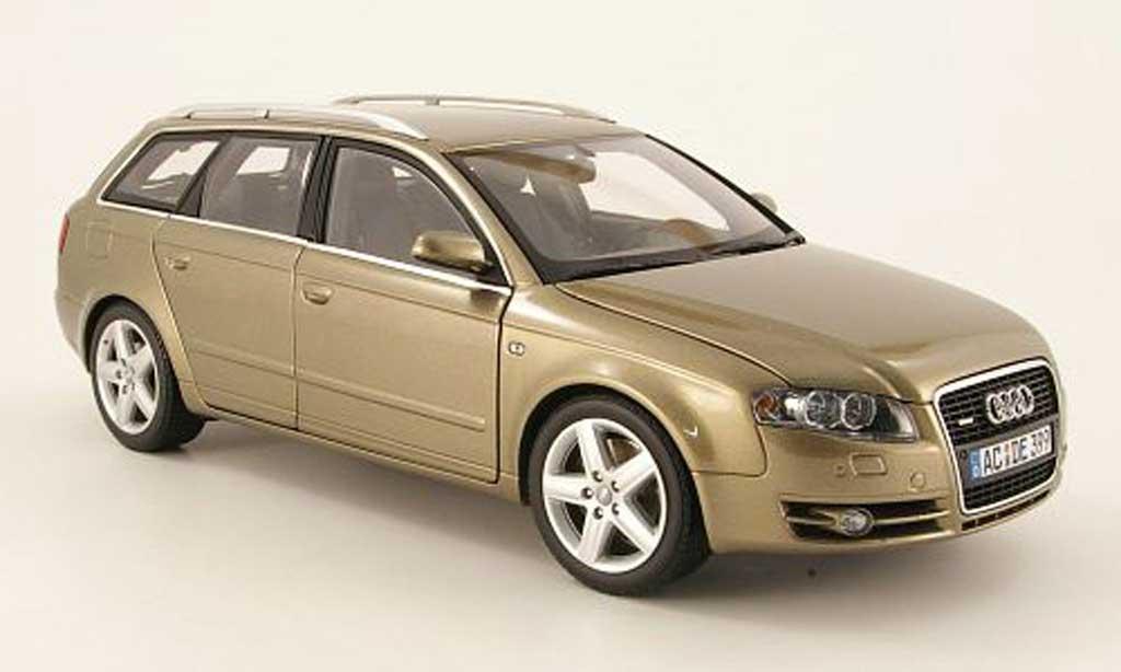 Audi A4 avant 1/18 Minichamps beige 2005 miniature