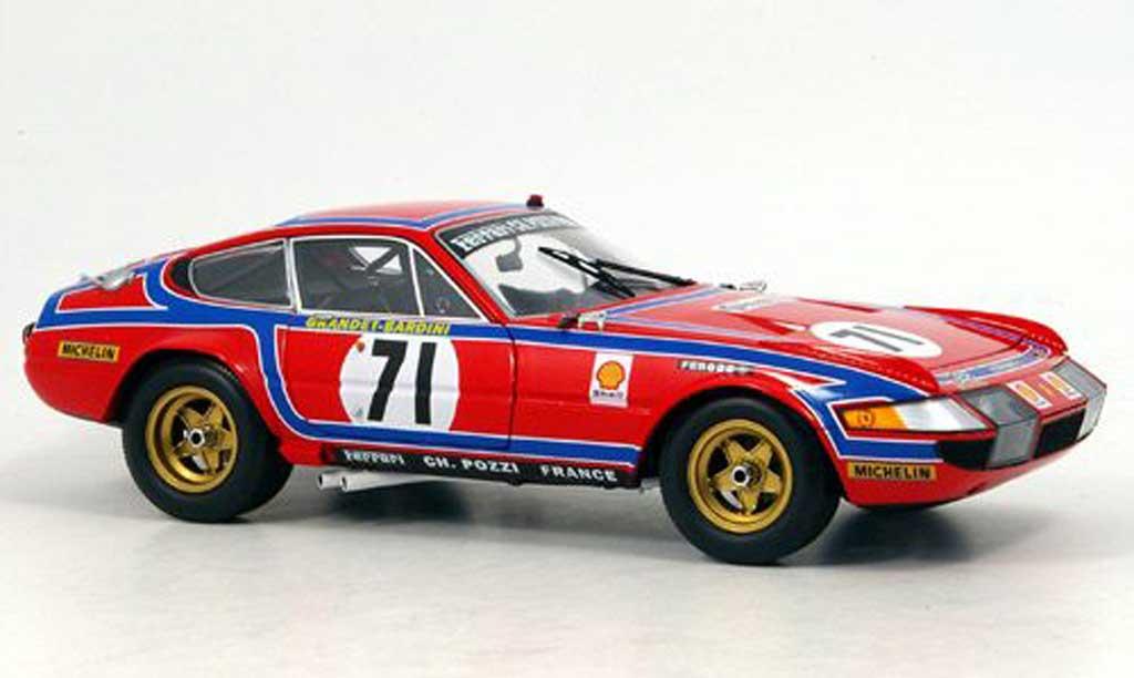 Ferrari 365 GTB/4 1/18 Kyosho no.71 24h le mans 1974 miniature