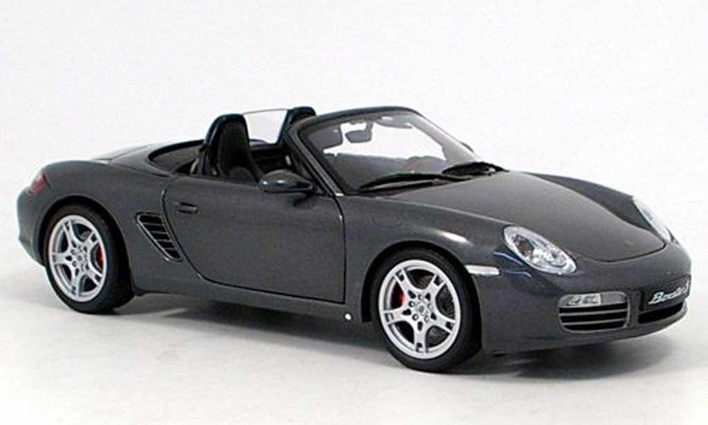 porsche boxster s grau kyosho modellauto 1 18 kaufen verkauf modellauto online. Black Bedroom Furniture Sets. Home Design Ideas