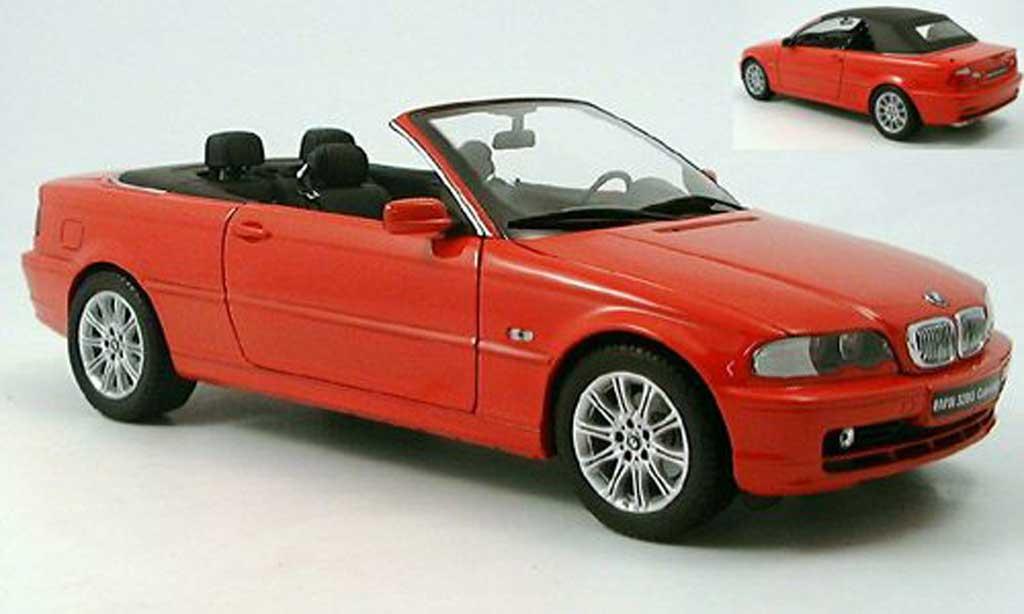 Bmw 328 E46 1/18 Kyosho ci cabriolet rouge miniature