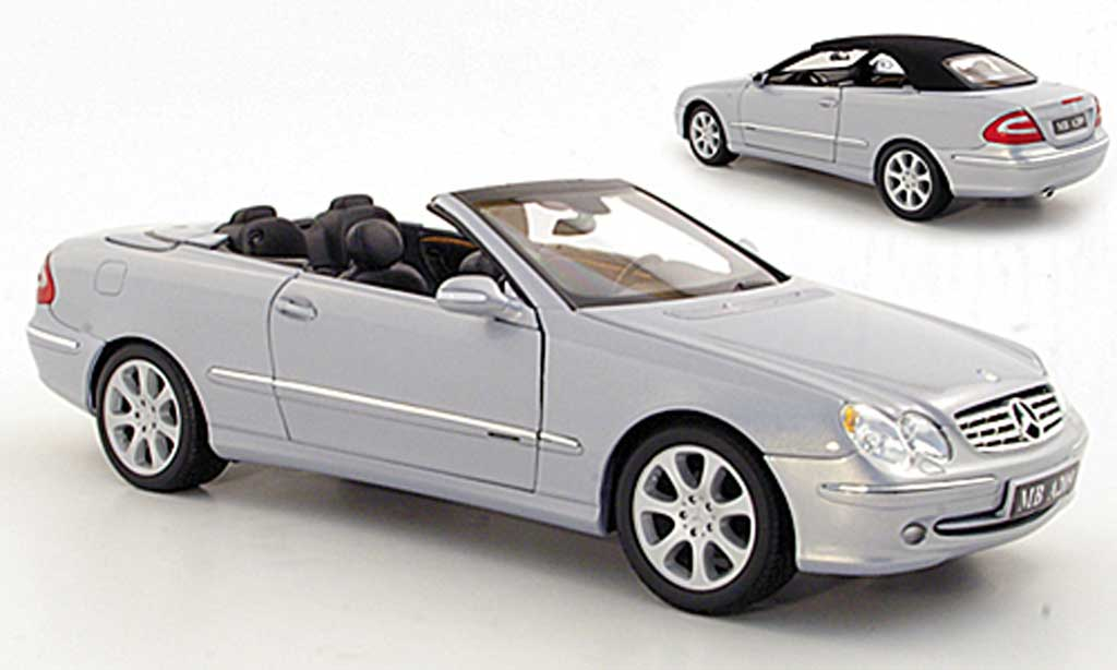 Mercedes Classe CL 1/18 Kyosho K Cabriolet grise metallisee 2003 miniature