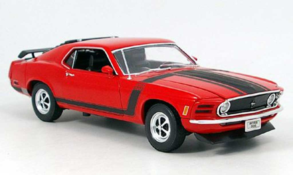 Ford Mustang 1970 1/18 Welly 1970 boss rouge miniature
