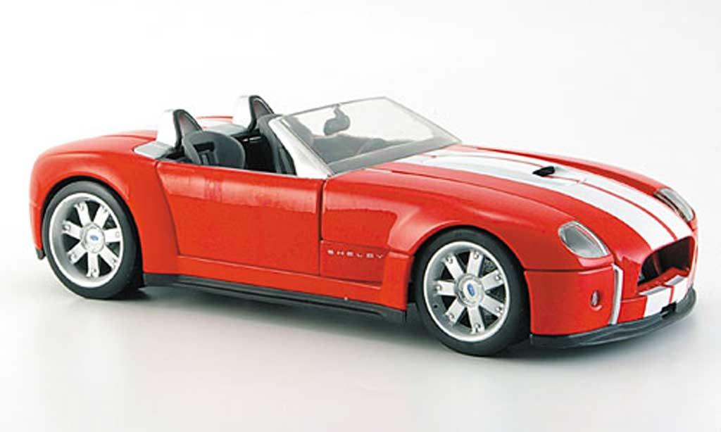 Shelby Cobra Concept 1/18 Hot Wheels Concept rouge avec bandes blanches miniature
