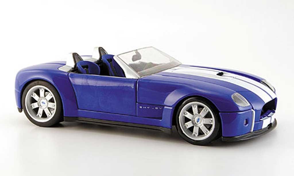 Shelby Cobra Concept 1/18 Hot Wheels Concept bleu avec bandes blanches miniature