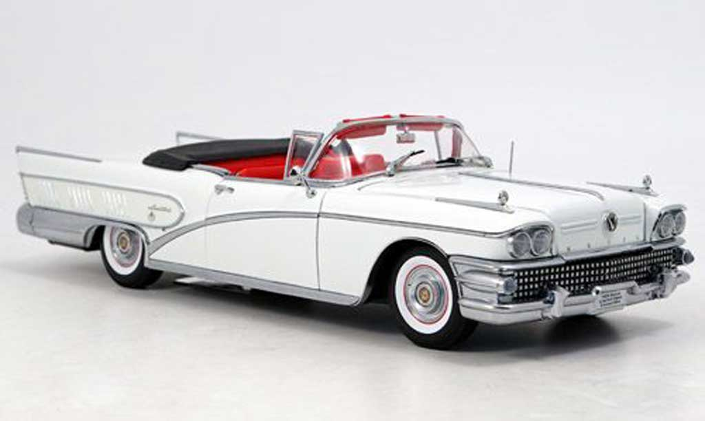 Buick Limited 1/18 Sun Star convertible blanche 1958 miniature