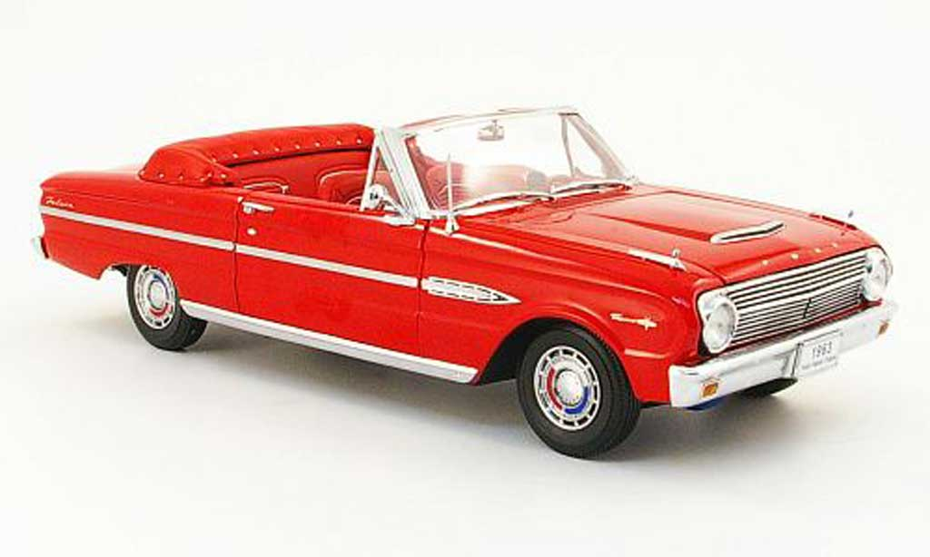 Ford Falcon Cabriolet 1/18 Sun Star rouge 1963 miniature