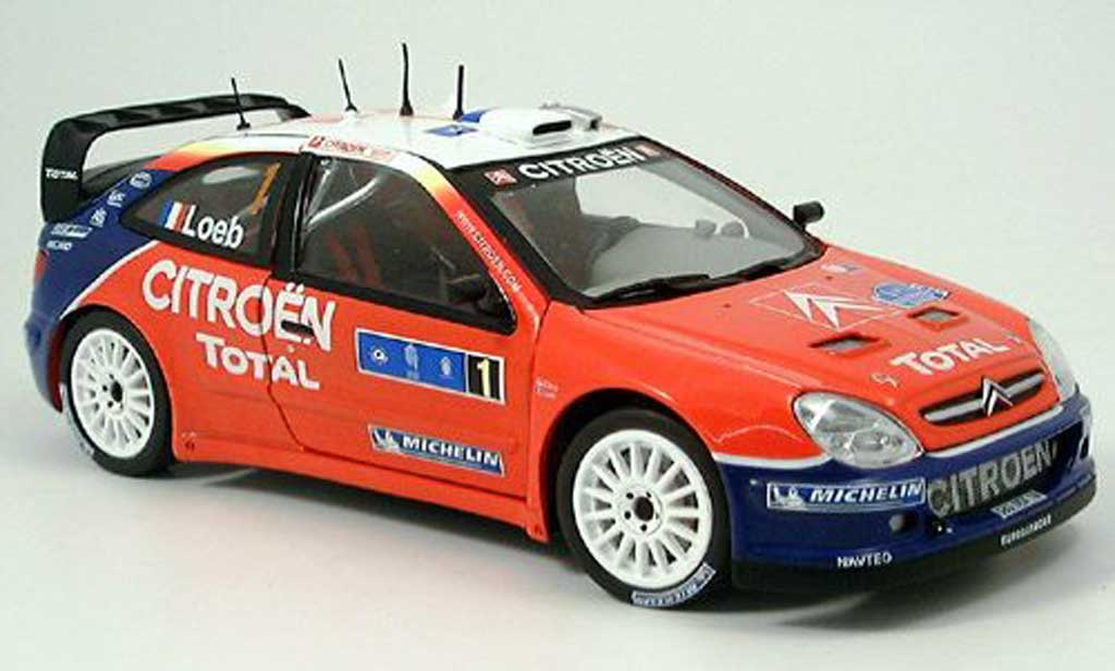 Citroen Xsara WRC 2005 1/18 Sun Star no.1 total sieger tour de course miniature