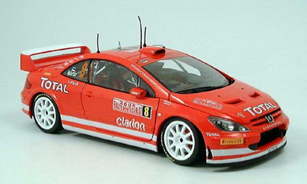 Peugeot 307 WRC 1/18 Sun Star no.8 toatl martin rallye monte carlo 2005 miniature