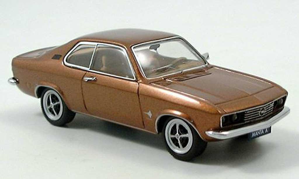 Opel Manta A 1/43 Schuco bronze miniature