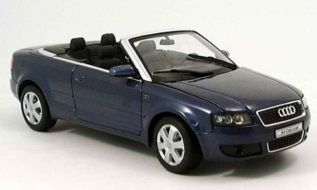 Audi A4 cabriolet 1/18 Welly bleu 2002 miniature