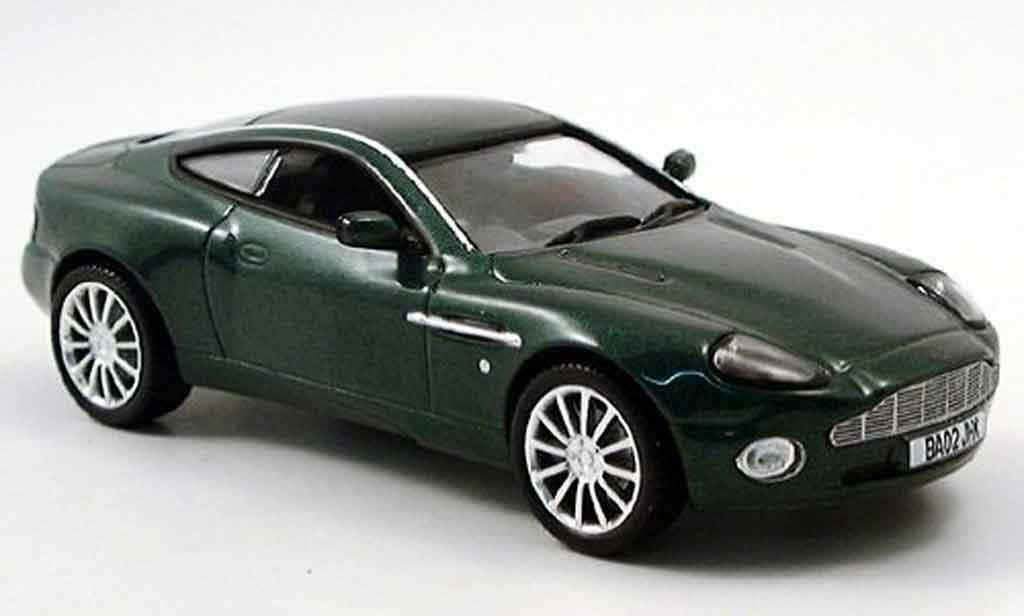 aston martin vanquish miniature v12 verte norev 1 43 voiture. Black Bedroom Furniture Sets. Home Design Ideas