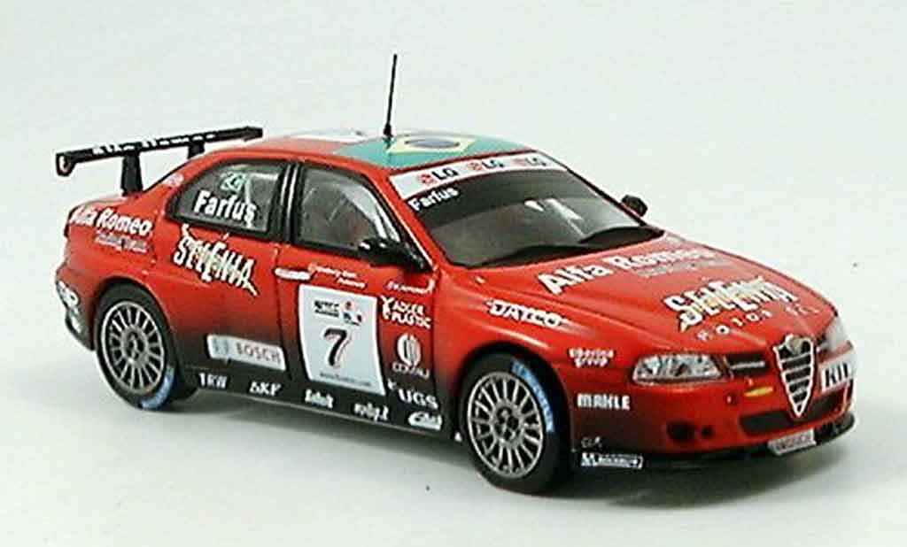 Alfa Romeo 156 GTA WTCC 1/43 Spark no.7 farfus 2005 miniature