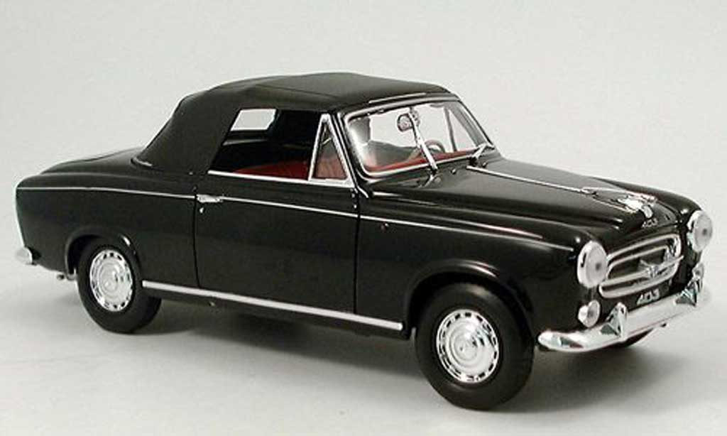 peugeot 403 cabriolet miniature noire 1957 avec capote. Black Bedroom Furniture Sets. Home Design Ideas