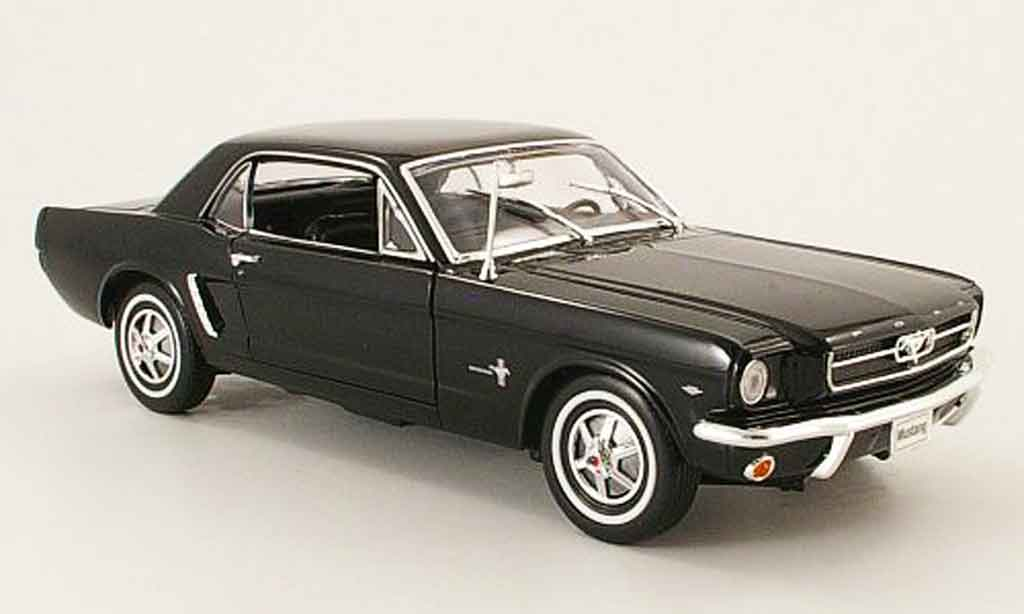 Ford Mustang 1964 1/18 Welly coupe noire miniature