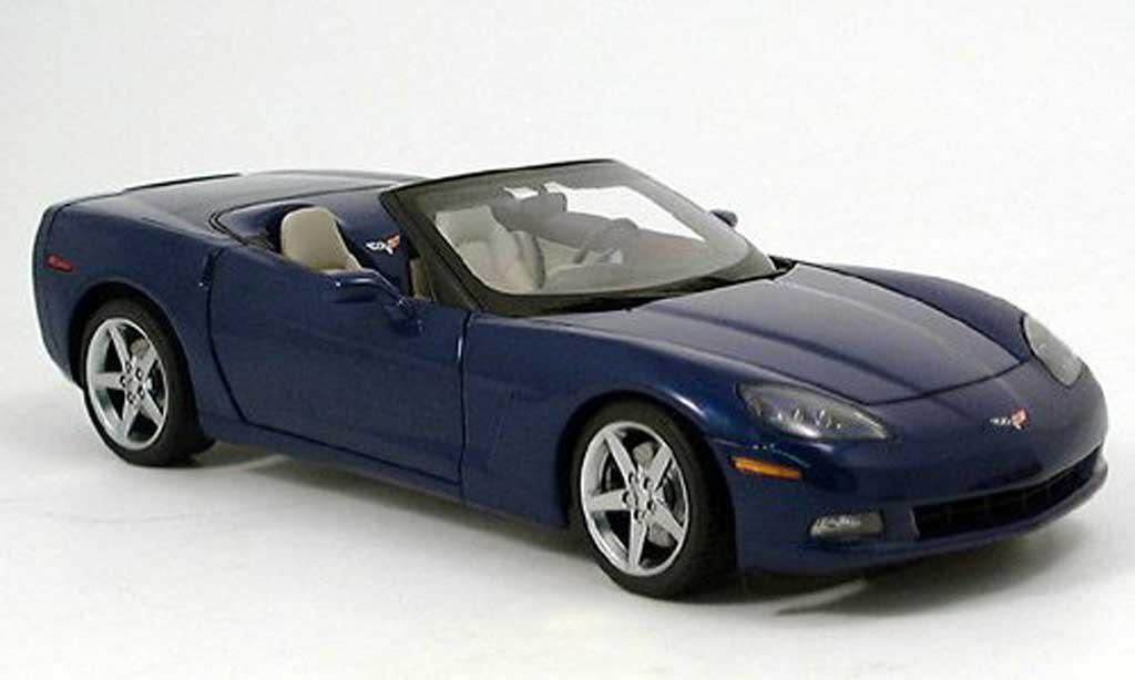 Chevrolet Corvette C6 1/18 Autoart convertible bleu 2005 modellautos