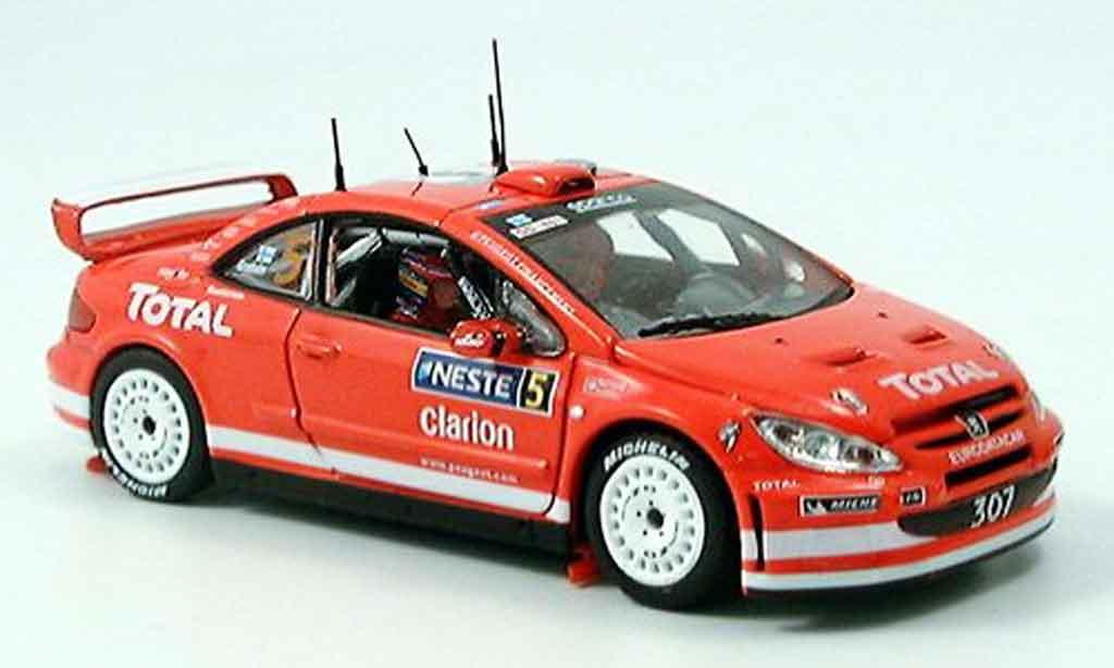 Peugeot 307 WRC 1/43 Vitesse gronholm rallye 2004 miniature