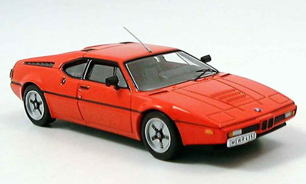 Bmw M1 1978 1/43 IXO red diecast model cars