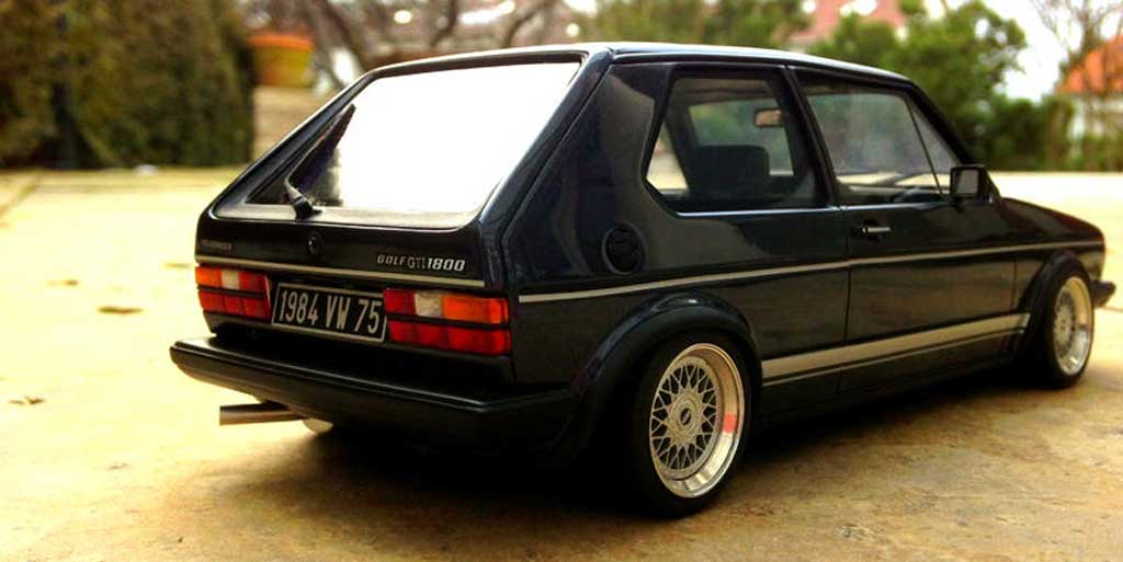 Volkswagen Golf 1 GTI 1/18 Ottomobile 1800 Plus Jantes BBS RM