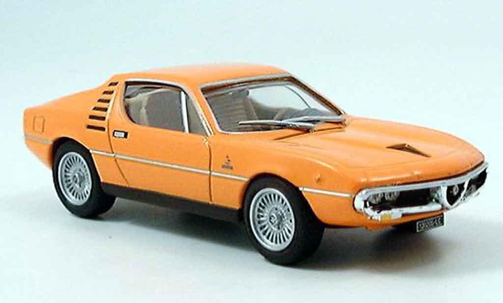 Alfa Romeo Montreal 1/43 Edison orange 1973 miniature