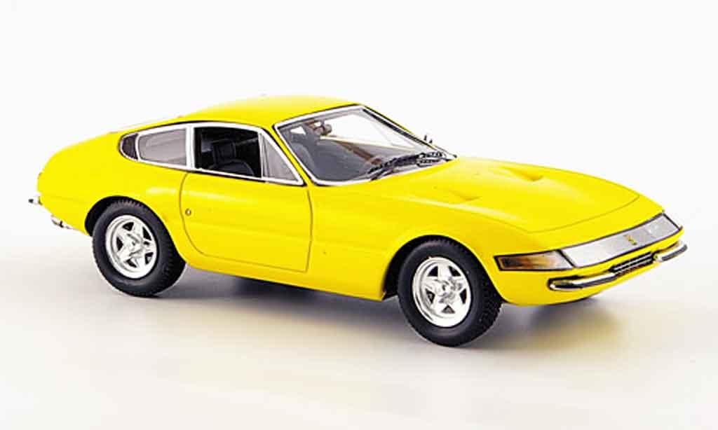 Ferrari 365 GTB/4 1/43 Red Line daytona yellow 1969 diecast model cars