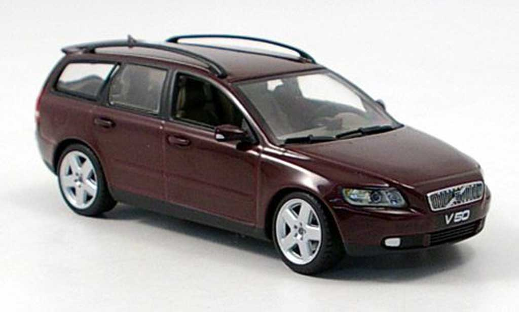 Volvo V50 1/43 Minichamps Break lila 2003 miniature