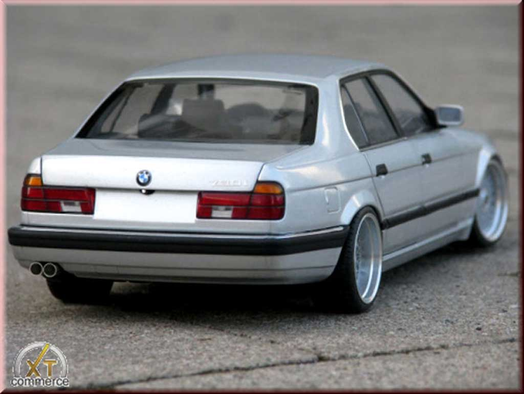 Bmw 730 E32 1/18 Minichamps i grigio jantes bbs bords larges echappement inox