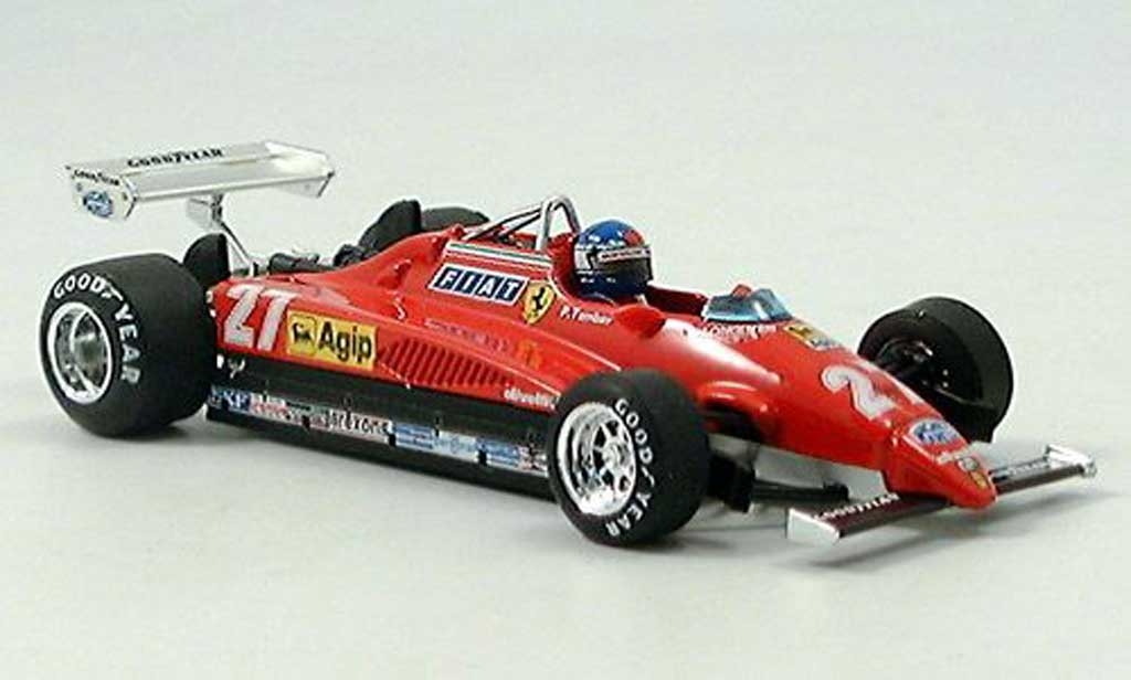 Ferrari 126 1982 1/43 Brumm C2 No.27 Tambay GP Monza mit Pilot diecast model cars