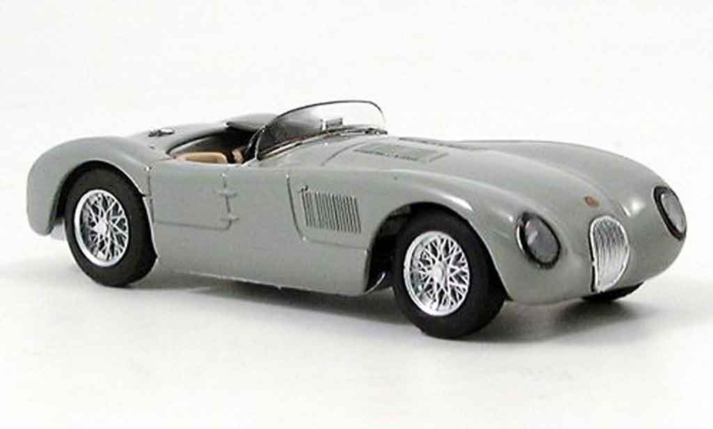 Jaguar C-Type 1/43 Brumm stradale grise miniature