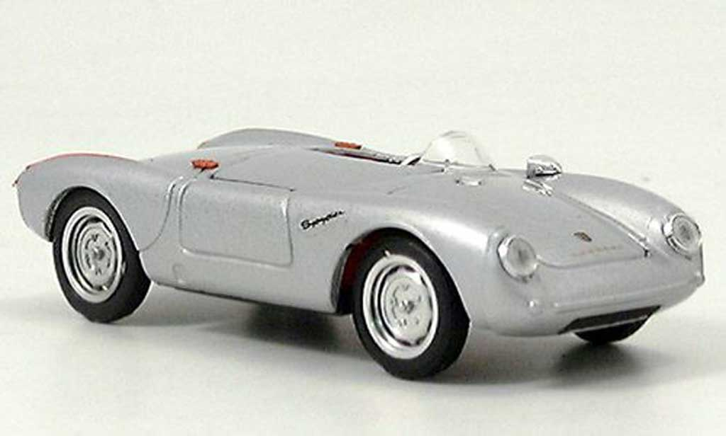 Porsche 550 1954 1/43 Brumm  grise  Strassenversion miniature