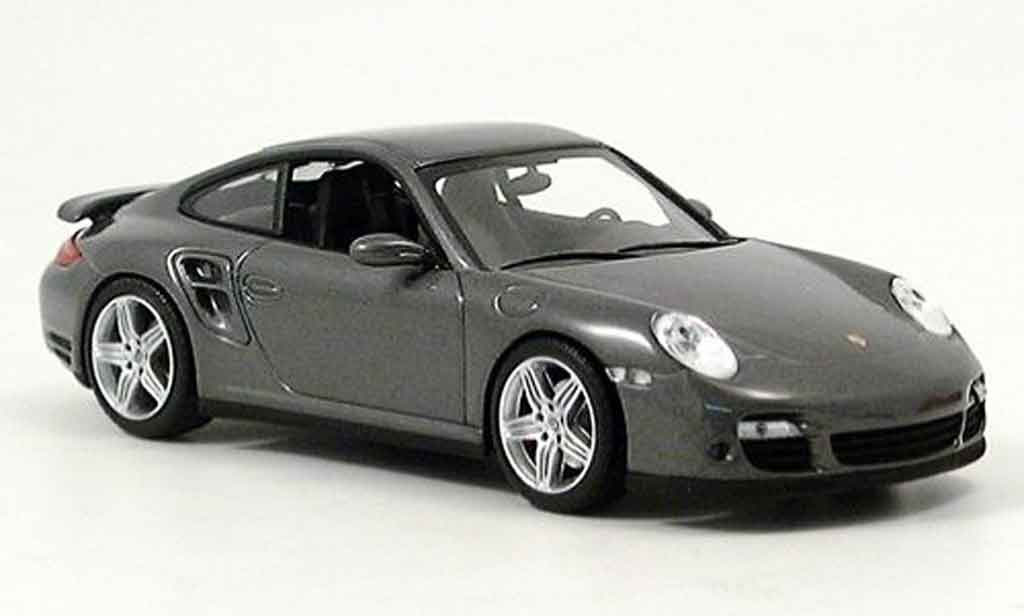 Porsche 997 Turbo 1/43 Minichamps grise miniature