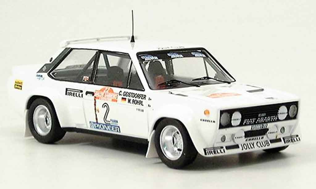 Fiat 131 1/43 Trofeu Abarth Jolly Club San Remo Rohrl Geistdorfer 1980 miniature