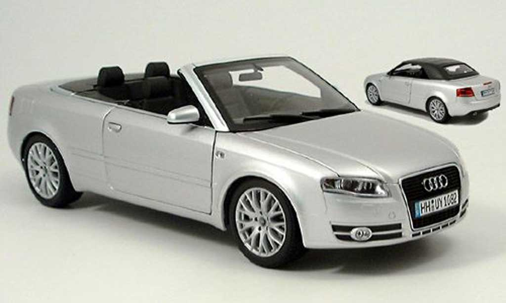 Audi A4 cabriolet gray 2006 Norev. Audi A4 cabriolet gray 2006 miniature 1/18