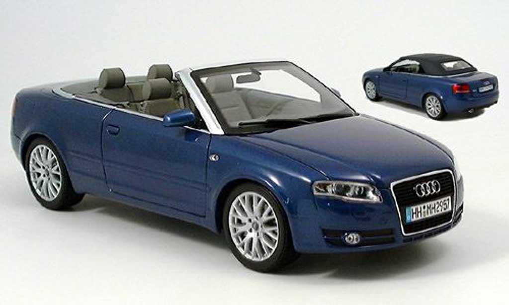 Audi A4 cabriolet blue 2006 Norev. Audi A4 cabriolet blue 2006 miniature 1/18