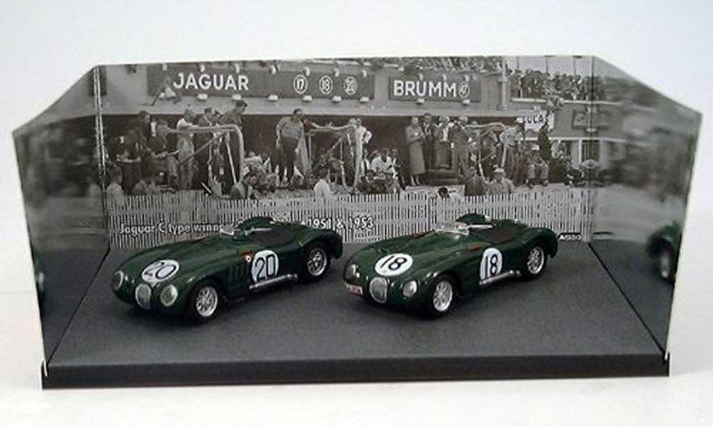 Jaguar C-Type 1953 1/43 Brumm 1953 2er-Set: No.18 & No.20 Siegerfahrzeuge 24h Le Mans & miniature