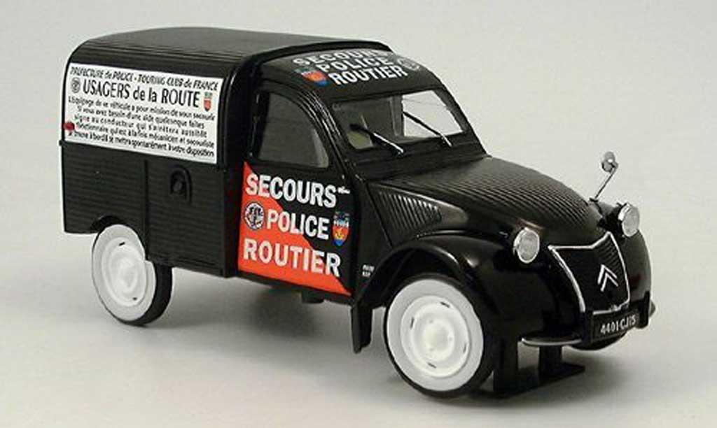 Citroen 2CV 1/43 Norev Boite Secours routier police (F)  miniature