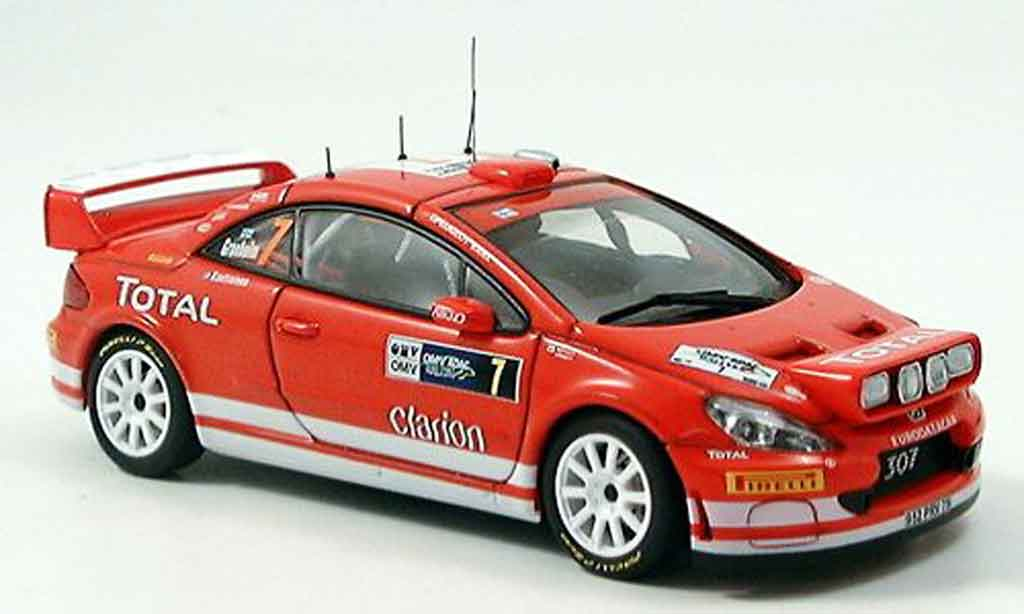 Peugeot 307 WRC 1/43 Autoart no.7 gronholm rallye deutschland 2005 miniature