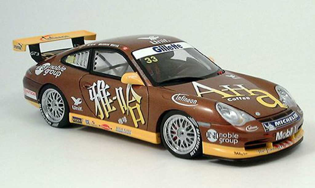 Porsche 996 GT3 1/18 Autoart R marsh no.1 asian carrera cup 2004 miniature