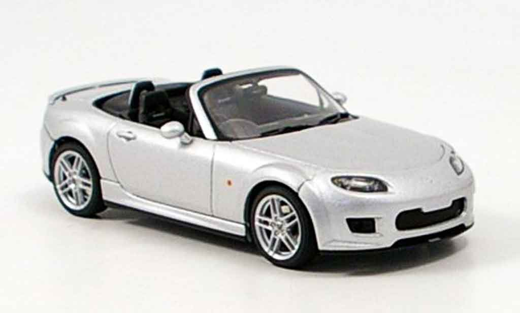 Mazda MX5 2006 1/43 Autoart MX 5 Roadster US Version grise metallisee 2006 miniature