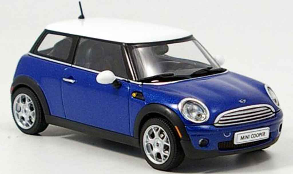 mini cooper d blue 2006 autoart diecast model car 1 43. Black Bedroom Furniture Sets. Home Design Ideas