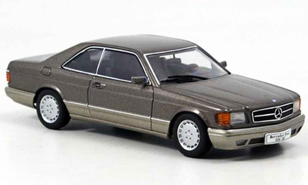 Mercedes 500 SEC 1/43 Autoart SEC SEC (W126) Coupe grise miniature