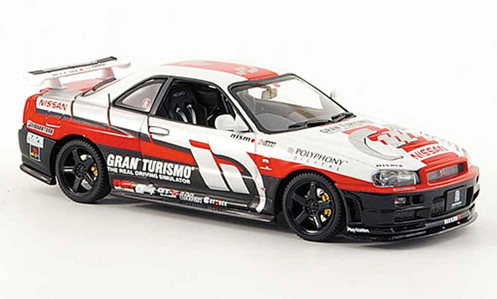 Nissan Skyline R34 1/43 Autoart Gran Turismo 2002 miniatura