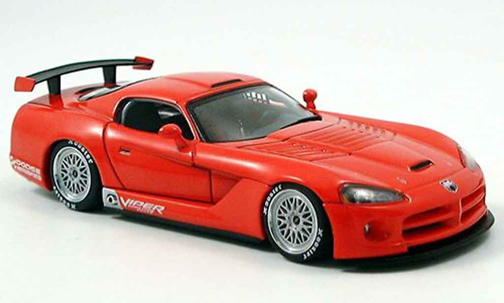 Dodge Viper Competition 1/43 Autoart Car Plain Body rouge 2004 miniature